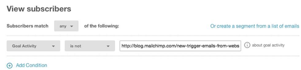 Goals by MailChimp