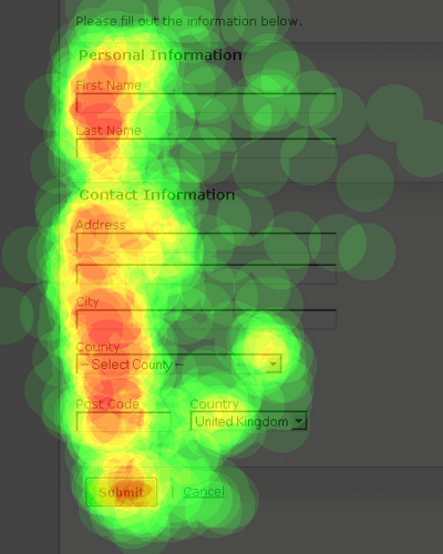 Website Visitor Activity Heat Map